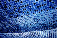 Blue bottle bottoms Royalty Free Stock Images