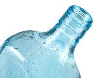 Blue bottle closeup Stock Image