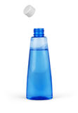 Blue bottle cosmetic packaging of toner isolated on white backgr. Ound Stock Photos