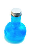 Blue bottle with manna Stock Photo