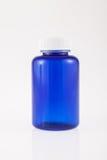 Blue bottle for medicine Stock Image