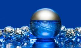Blue Bottle Of Perfume Royalty Free Stock Photo