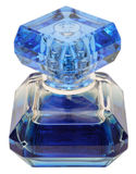Blue bottle of perfume Stock Photography