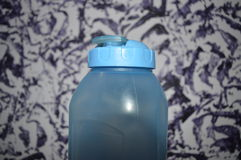 A blue bottle Royalty Free Stock Photo