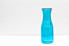 Blue Bottle. A Blue bottle in white background Royalty Free Stock Photo