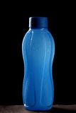 Blue bottle wit chilled water Royalty Free Stock Images