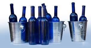 Blue bottles Royalty Free Stock Images