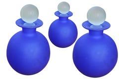 Blue bottles Stock Photos