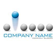 Blue Bouncing Ball Company Logo. Company Logo Concept - Blue Bouncing Ball Company Logo Stock Image