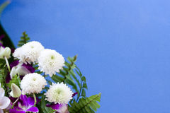 Blue bouquet flowers Stock Photography