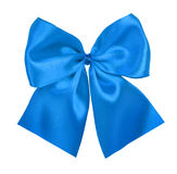 Blue bow royalty free stock photography
