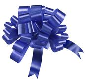 Blue bow. On white background Royalty Free Stock Photos
