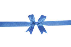 Blue bow Stock Photography