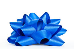 Blue bow Royalty Free Stock Image