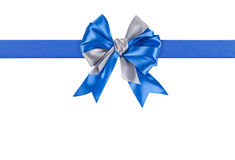 Blue bow. On white background Royalty Free Stock Photography