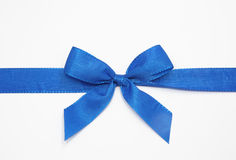 Blue bow Stock Image