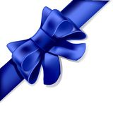 Blue bow. On a white background Royalty Free Stock Image