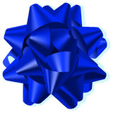 Blue Bow. A blue silk vector bow Royalty Free Stock Photo