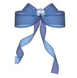 Blue bow. On the white background Stock Photography