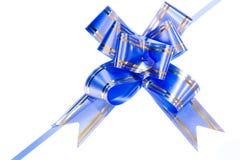 Blue bow stock photo