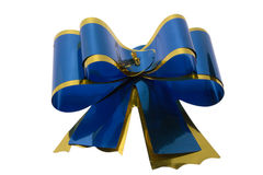 Blue bow. On a white background is isolated Royalty Free Stock Image