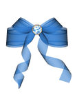 Blue bow. We have a blue bow on a white background Royalty Free Stock Image