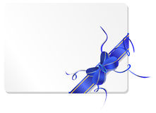 Blue bow with blank space Royalty Free Stock Image