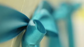 Blue bow stock footage