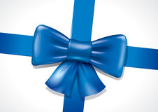 Blue bow illustration Stock Photo