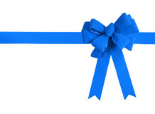 Blue bow isolated Royalty Free Stock Photo