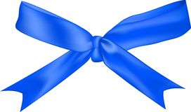 blue bow isolated on white background Stock Photos