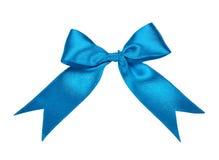 Blue bow. Isolated on white background Stock Photos