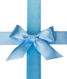 Blue bow isolated on white Stock Photos