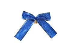 Blue bow isolated on white background Stock Photos