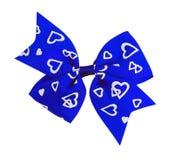 Blue bow isolated Stock Photo