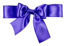 Blue bow made from silk Royalty Free Stock Images