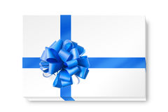 Blue bow from ribbon Stock Photo