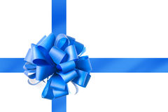Blue bow from ribbon Royalty Free Stock Photo