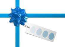 Blue Bow and ribbon Royalty Free Stock Photography