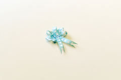 Blue bow ribbon isolated. On the white background Royalty Free Stock Images
