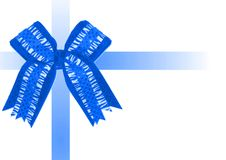 Blue bow and ribbons Royalty Free Stock Images