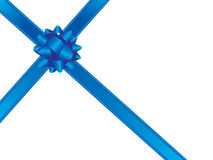 Blue bow and ribbons Royalty Free Stock Image