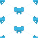 Blue bow seamless pattern. Stock Image
