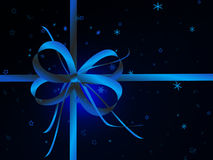 Blue bow and stars Royalty Free Stock Image