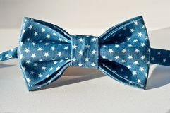 Blue bow tie stock image