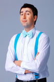 Blue Bow Tie and Brases. Stock Image