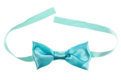 Blue bow tie isolated Stock Photography