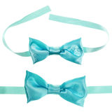 Blue bow tie isolated Royalty Free Stock Photos