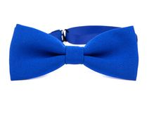 Blue bow tie isolated. On white background Royalty Free Stock Photography