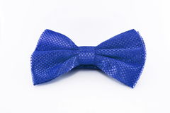 Blue bow tie isolated on white background Stock Photo